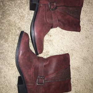 Style & Co Red Studded Booties - Teylor NWT
